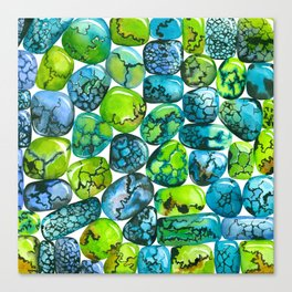Turquoise pattern Canvas Print