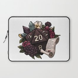 Warlock Class D20 - Tabletop Gaming Dice Laptop Sleeve