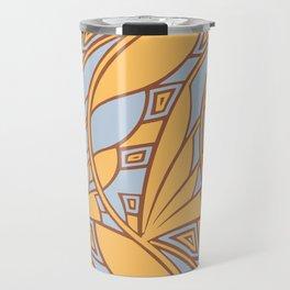 Modern art nouveau tessellations gamboge azure Travel Mug