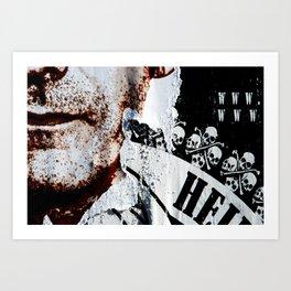 Skeletons of society Art Print