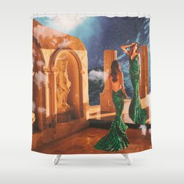 The Two Sides of Pisces Shower Curtain