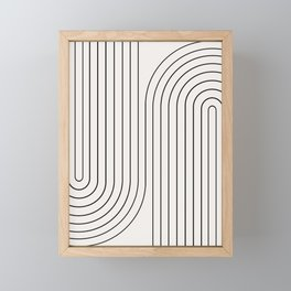 Minimal Line Curvature I Framed Mini Art Print