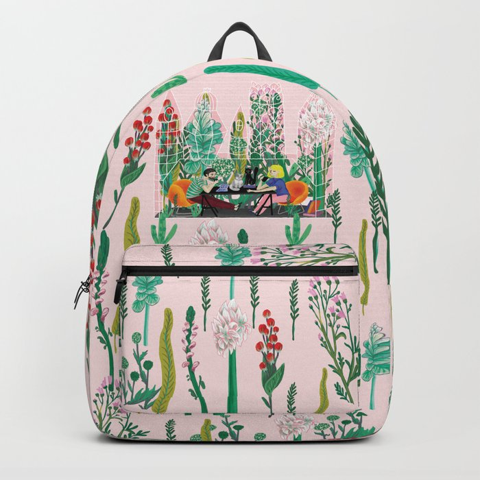 Take a coffee in the botanical garden Backpack