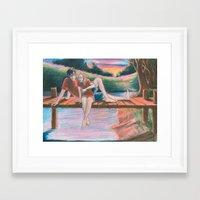 burdge Framed Art Prints featuring Light Outside by Burdge
