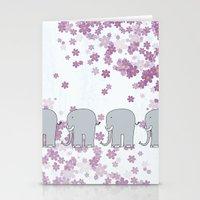 elephants Stationery Cards featuring Elephants by Ehud Neuhaus Illustration
