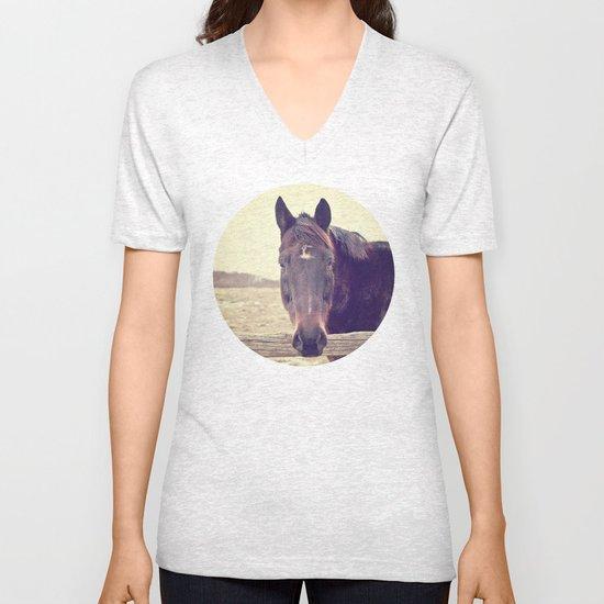 Hello Horse  Unisex V-Neck