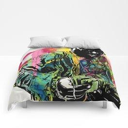 Biggie Smalls Spray Paint Illustration Comforters
