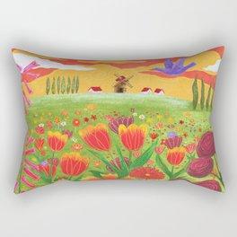 Flowers field Rectangular Pillow