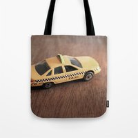 death cab for cutie Tote Bags featuring cab by Vin Zzep