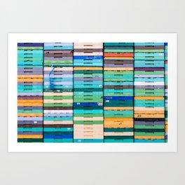Produce Crates Art Print