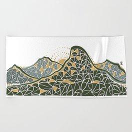 Geometric Mountain Beach Towel