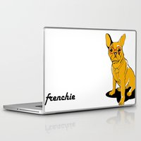 frenchie Laptop & iPad Skins featuring Frenchie by andiroses