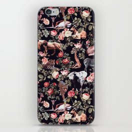 Animals and Floral Pattern iPhone Skin