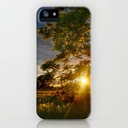 Golden Hour on the Prairie iPhone Case