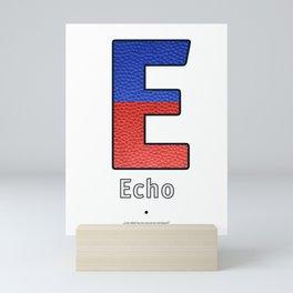 Echo - Navy Code Mini Art Print