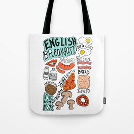 English Breakfast Tote Bag