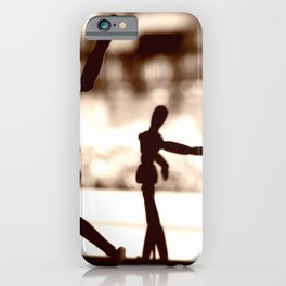 Wooden Puppet Sepia iPhone Case