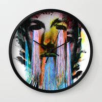 lovecraft Wall Clocks featuring Howard Phillips Lovecraft  by DIVIDUS
