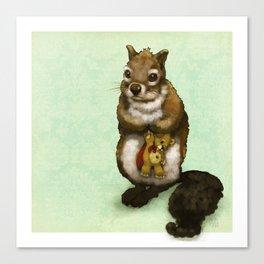 Shy Squirrel Canvas Print