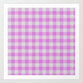 Violet Buffalo Plaid Art Print