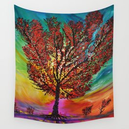 The Wow Tree Wall Tapestry