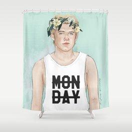 Flower crown Niall Shower Curtain