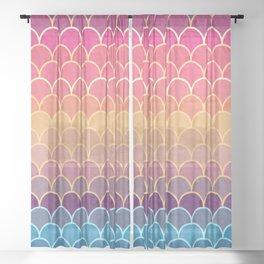 Watercolor Lovely Pattern VVIV Sheer Curtain