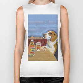 One Beagle, One Scotch, One Beer Biker Tank