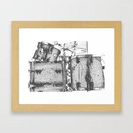 Drummin' Framed Art Print