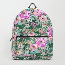 WANDERLUSH Colorful Floral Backpack