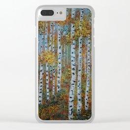 Last Hurrah, Aspen Tree Painting Clear iPhone Case