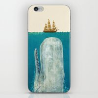 sea iPhone & iPod Skins featuring The Whale - colour option by Terry Fan