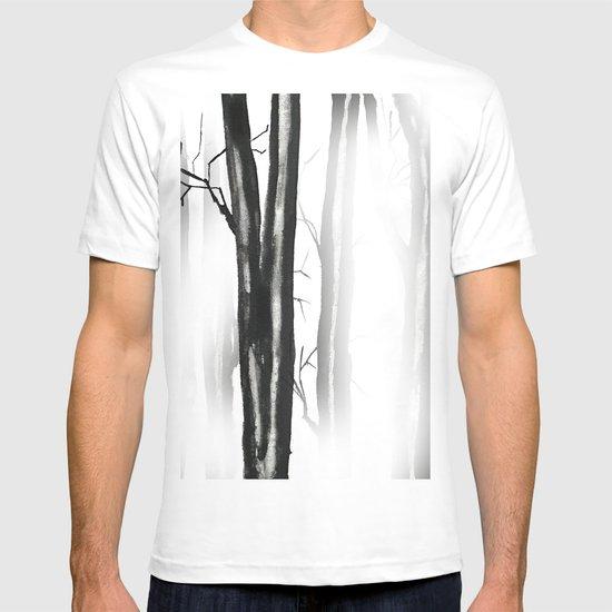 wood, snow and fog T-shirt