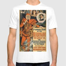 Herrmann the Great White MEDIUM Mens Fitted Tee