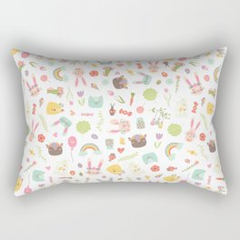 Colorful Easter Clipart Pattern Rectangular Pillow