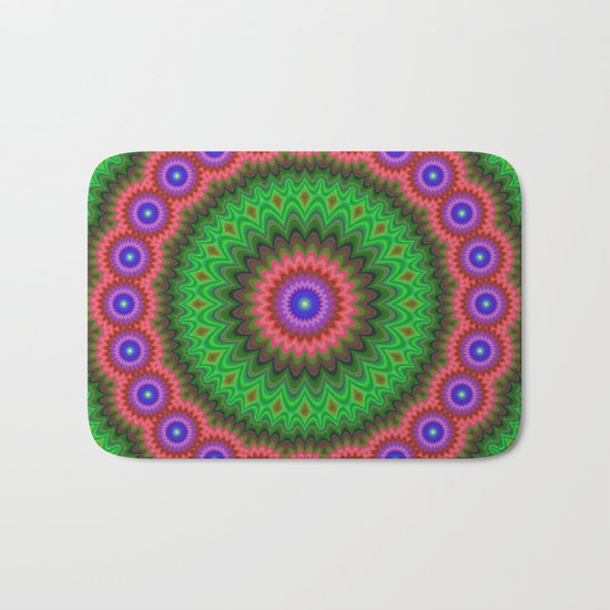 Mandala flower bouquet Bath Mat