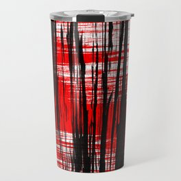 Red and black Travel Mug