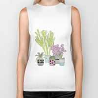 cactus Biker Tanks featuring Cactus by Olivia James