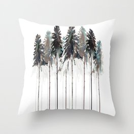 Siberian Forest 3.0 Throw Pillow