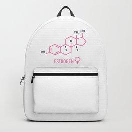 Sex hormones molecular formula: Estrogen Hormones symbol. Backpack