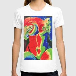 Thermal Sensual Woman Oil Painting T-shirt