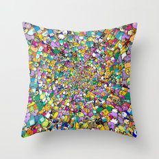 Adventure time swirl Throw Pillow