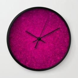 Garnet Pink Sparkling Jewels Pattern Wall Clock