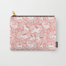 Where the bunnies sleep (rose) Carry-All Pouch