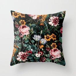 Midnight Garden III Throw Pillow