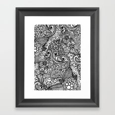Flower Fountain Framed Art Print