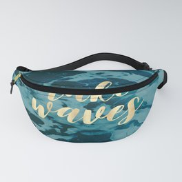 Make Waves in Gold Fanny Pack