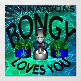 Bongy Loves You Canvas Print