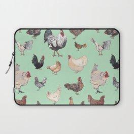Chicken Happy (green) Laptop Sleeve