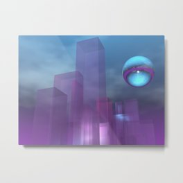 towers of glass Metal Print